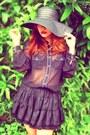 Black-zara-blouse-black-topshop-skirt