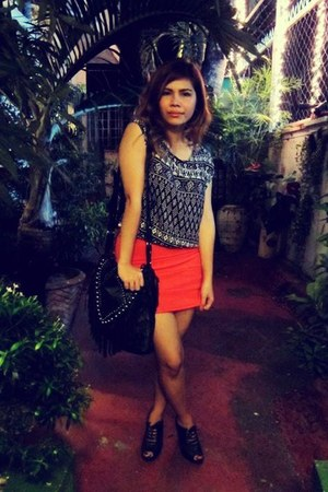 random blouse - Zara shoes - bought online skirt