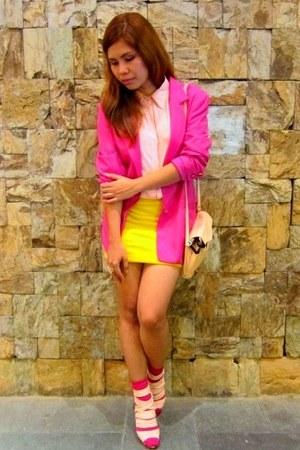 hot pink fasyonablemultiplycom blazer - hot pink Forever 21 socks - bubble gum B