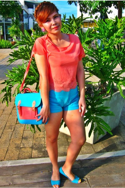 aquamarine vintage shorts