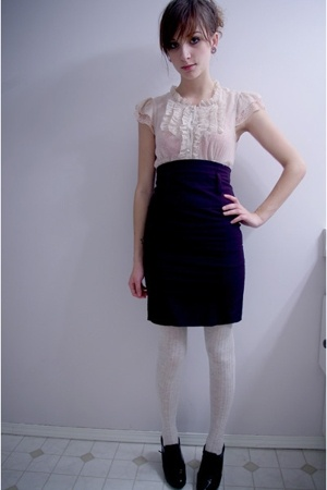 pink martini shirt - Sirens skirt - tights - Fioni shoes
