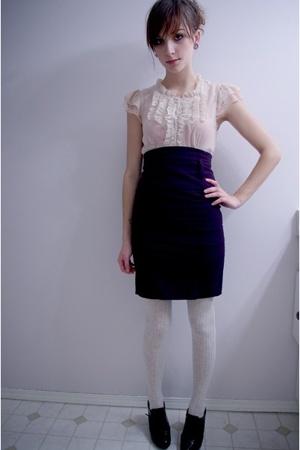 pink martini shirt - Sirens skirt - tights - Fioni shoes
