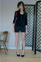 blazer - purse - shorts - shoes