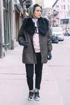 Zara jacket - Scotch & Soda sweater - Zara shirt - H&M scarf - Forever 21 pants