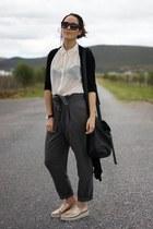 Forever 21 bag - PERUGIA shoes - Prada sunglasses - Forever 21 pants