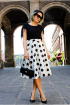Couture District skirt - Via Vanilla sunglasses - Monki top - Steve Madden heels