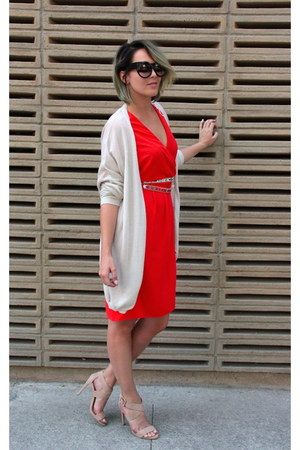 lindex dress - Via Vanilla sunglasses - Indiska cardigan - c&a heels