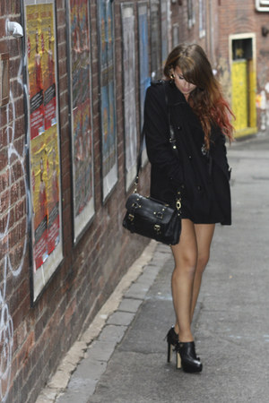 peacoat Topshop jacket - Sportsgirl boots