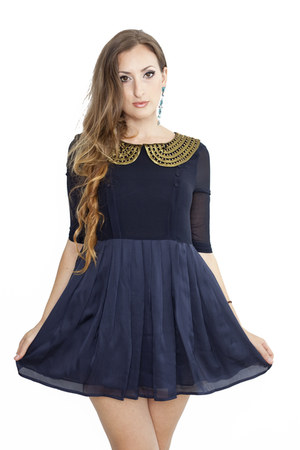 navy Byrd Holland dress