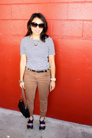 H&M pants - xhilaration wedges - banana republic top - Nordstrom necklace