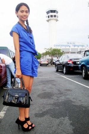 navy Plains & Prints romper - black Rusty Lopez heels