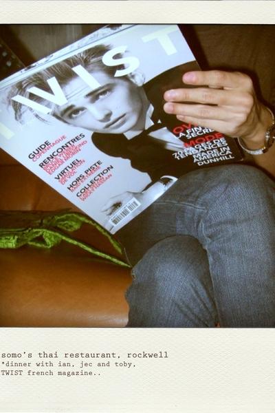 Topman top - Topman jeans - Topman belt - Philippe Charriol - Marc by Marc Jacob