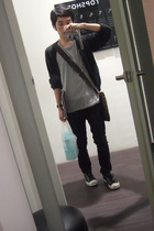 Louis Vuitton purse - H&M shirt - Topman - Converse shoes