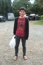 Quiksilver t-shirt - Topman - H&M jeans - H&M necklace