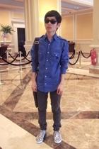Topman shirt - Cheap Monday jeans - Puma shoes - Louis Vuitton