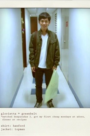 Topman jacket - H&M jeans - Converse shoes - Louis Vuitton