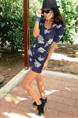 floral dress - H&M shoes