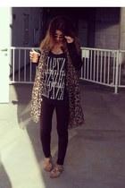 leopard H& M scarf