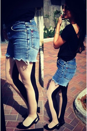 denim vintage shorts