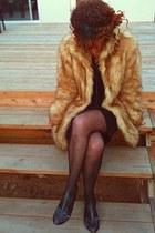 fur asos coat - body chain Ebay necklace