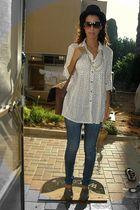 vintage blouse - Zara jeans