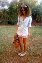 denim thrifted vintage blouse