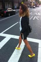 black H&M jacket - black  white Forever 21 shorts