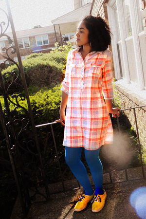 Old Navy shirt - Bon - Ton stockings - Keds shoes