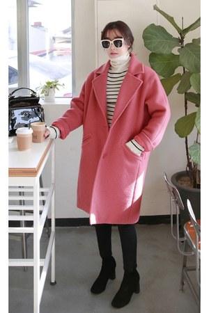 black MIAMASVIN boots - pink MIAMASVIN coat - beige MIAMASVIN top