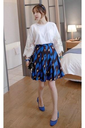 crimson MIAMASVIN skirt - white MIAMASVIN top - blue MIAMASVIN pumps