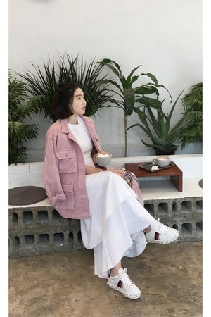 white MIAMASVIN dress - light pink MIAMASVIN jacket