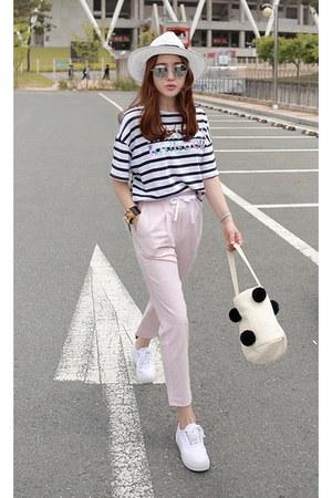 navy MIAMASVIN top - light pink MIAMASVIN pants