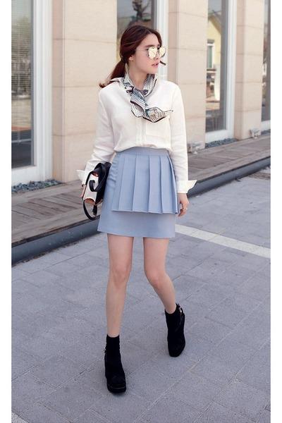 white miamasvin shirts light blue miamasvin skirts