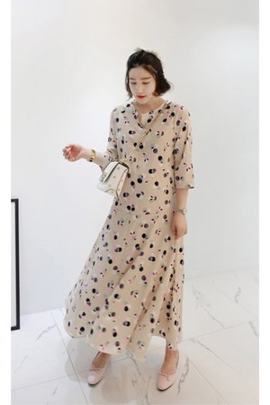 beige MIAMASVIN dress