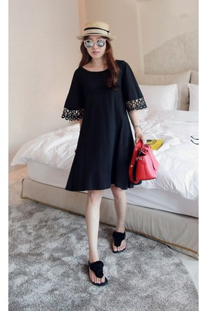 black MIAMASVIN dress - MIAMASVIN flats