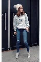 navy MIAMASVIN jeans - silver MIAMASVIN sweater - MIAMASVIN sneakers