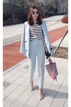 light blue MIAMASVIN suit - black MIAMASVIN top