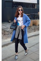 blue MIAMASVIN coat - dark gray MIAMASVIN shirt - silver MIAMASVIN loafers