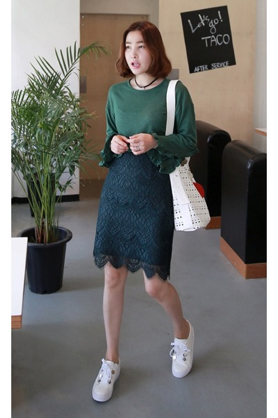 dark green MIAMASVIN top - forest green MIAMASVIN skirt