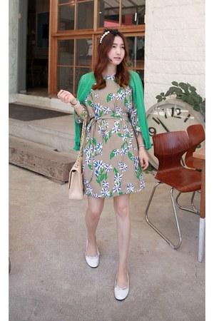 green MIAMASVIN dress - tan MIAMASVIN flats