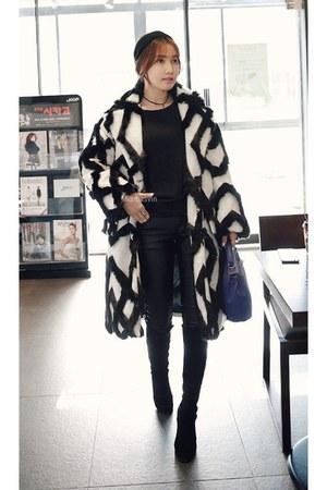 ivory MIAMASVIN coat - knee-high boots MIAMASVIN boots - black MIAMASVIN pants