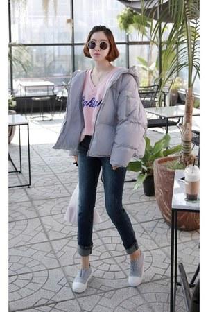 light pink MIAMASVIN jeans - silver MIAMASVIN jacket