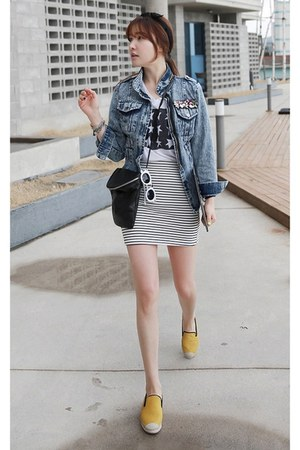 MIAMASVIN shoes - blue MIAMASVIN jacket - black MIAMASVIN bag