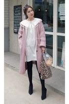 white MIAMASVIN dress - light pink MIAMASVIN cardigan - black MIAMASVIN pumps