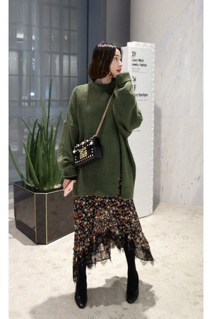 army green MIAMASVIN dress