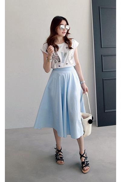 light blue miamasvin skirts white miamasvin tops quot nyc