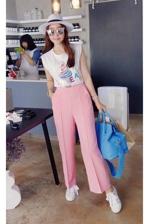white MIAMASVIN top - light pink MIAMASVIN pants