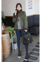 olive green MIAMASVIN jacket - navy MIAMASVIN jeans - black MIAMASVIN bag