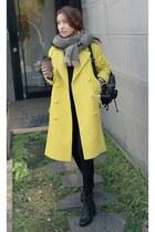 light yellow MIAMASVIN coat - MIAMASVIN boots - black MIAMASVIN pants