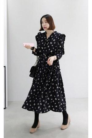black MIAMASVIN dress - tan MIAMASVIN heels